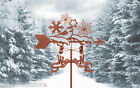 Snowflakes and Chickadee Bird Weathervane - Weather Vane - w/ Choice of Mount