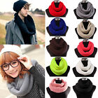 Nice Women's Winter Warm Long Scarf Shawl Infinity 2Circle Cable Knit Cowl Neck