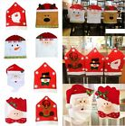 8 Style Christmas Santa Claus Dinner Chair Seat Back Cover Home Decoration Gift