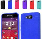 Rugged Silicone Rubber Slim Case Cover For AT&T Kyocera Hydro Air C6745 Phone