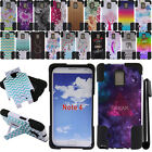 For Samsung Galaxy Note 4 N910 KICKSTAND HYBRID HARD Silicone Case Cover + Pen