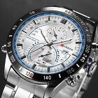 CURREN MEN STAINLESS STEEL SPORT QUARTZ DATE HOURS ARMY WRIST WATCH