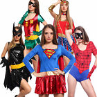 6 Characters Fancy Dress Girls Superhero Supergirl Wonder Woman Costumes Party