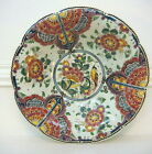 "Delft Velsen Polychrome Footed Bowl - 13 3/4"" Diameter - Wallhanging or Use"