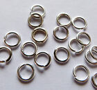 Jumprings Silver plated 4, 4.5, 5, 6, 7, 8mm open Top quality findings