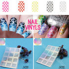 12Tips/Sheet Mesh Pattern Easy Use Nail Art Vinyls  Stencil Stickers