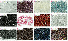 Pack of 50 4mm Button Czech Glass Beads - Lots of Colours