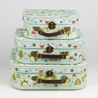 Set of 3 Spring Forest Owl Suitcases Bedroom Suitcase Storage From Sass & Belle