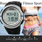 NEW Pedometer Fitness Running Sport Calorie Counter Heart Rate Monitor Watch