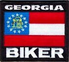 GEORGIA Biker STATE Flag Embroidered Motorcycle MC Club Vest Patch PAT-0686