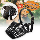 Adjustable Pet Dog No Bite Plastic Basket Muzzle Cage  Mouth Mesh Cover 7 Sizes