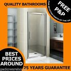 760mm PIVOT SHOWER DOOR ENCLOSURE CUBICAL, TOUGHENED GLASS, 36mm ADJUSTMENT
