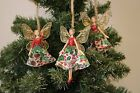 Gisela Graham Christmas Fairies & Angels Winter Woodland Fabric Resin Decoration