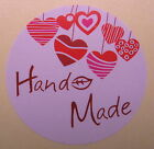 'HANDMADE' stickers/labels -  24, 48, 72 & 96  (#03)