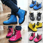 Fashion Winter Baby Kids Girls Boys Toddler Martin Waterproof Boots Shoes Snow