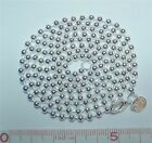 925 Sterling Silver Filled 3mm diameter Bead Ball Chain in 18 20 22 24 34 40 ""