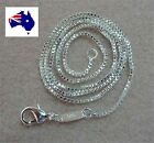 """925 Sterling Silver Filled 2mm Box Chain Necklace 18 20 22 24 Inch """""""