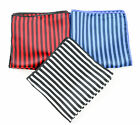 SANTOSTEFANO Italy Handmade Thin Striped Silk Pocket Square Handkerchief $150!