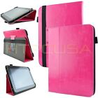 "Kozmicc Universal 8.9"" 10.1"" Inch Adjustable Stand Tablet Folio Case Cover"