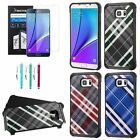 For Samsung Galaxy Note 5 Hybrid ShockProof Hard Rubber Case Cover+Film+Pen