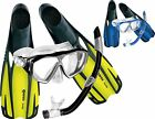 NEW Stylish Adult MASK + FINS + SNORKEL SET Combo Package - Dive Holidays