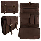 Lambland Genuine Quality Leather Hanging Wash / Travel / Toiletry Bag