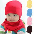 BD 1Set New Baby Infant Beanie Children Solid Kids Cotton Hat Scarf Wrap
