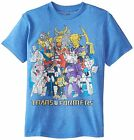 % Transformers Group Shot Super Soft Men's T-Shirt - Royal Heather