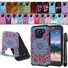 For Samsung Galaxy S6 Active G890 Shockproof HYBRID HARD SOFT Case Cover + Pen