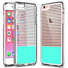 ULAK® [Clear SLIM] Back Cover with Soft Bumper Hybrid Case for iPhone 6 6s Plus