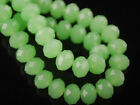 6~10mm Jade Deep Green Faceted Rondelle Crystal Glass Loose Spacer Beads Bulk