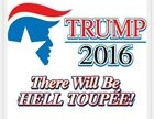 Donald Trump for American Hell Toupee Republican Political funny tshirt