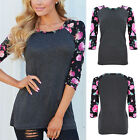 Women's Loose Long Sleeve Cotton Casual Blouse Shirt Tops Fashion T-shirt New YG