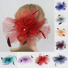 1 Pc Feather Pearl Lady Fascinator Clip Pin for Races Wedding Party Prom Jewelry