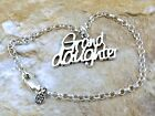 """Sterling Silver """"Grand Daughter"""" Charm on a Sterling Silver Rolo Bracelet - 0926"""