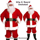 C405 Complete Santa Claus Suit Clause Christmas Halco Fancy Dress Adult Costume
