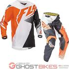Fly Racing 2016 Youth Kinetic Vector Orange White Black Motocross Kit MX Enduro