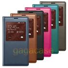 Samsung Galaxy S5 PU Leather Smart View Wallet Flip Cover Case+ Screen Protector