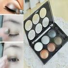 Fashion 6 Colors Shimmer Eye Shadow Palette Warm Nude Matte Makeup Cosmetic DJNG