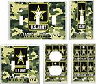 US ARMY STRONG GREEN CAMO LIGHT SWITCH COVER PLATE #2  U PICK  PLATE SIZE