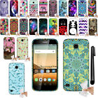 For Huawei Union Y538 Gel TPU SILICONE Rubber SKIN Soft Case Phone Cover + Pen