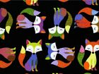 Timeless Treasures Foxes Poplin Quilting Fabric (C1477-Black-M)