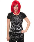 Banned Ouija Board Womens T Shirt Top Tee Black Goth Punk Occult