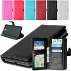 Senior leather 9-Card wallet pouch Case cover For Samsung iPhone LG Sony Nokia