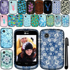 For LG 306G TPU SILICONE Rubber SKIN Soft Case Phone Cover + Pen