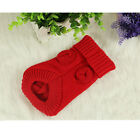 Small Pet Puppy Dog Cat Warm Sweater Winter Apparel Costumes Clothes Knit Coat