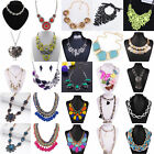 Womens Charms Crystal Rhinestone Chunky Fashion Ladies Statement Necklaces Gift