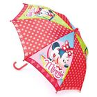 K124 GIRLS DISNEY MINNIE MOUSE BOW BROLLY WATERPROOF DOME BUBBLE UMBRELLA GIFT