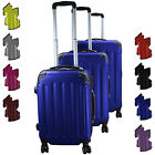 Set of 3 Travel Trolley Luggage Suitcase Cabin Travel with 360° Double Wheels