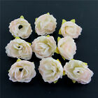Wholesale 50 12pcs Roses Artificial Fake Flower Heads Wedding Party Home